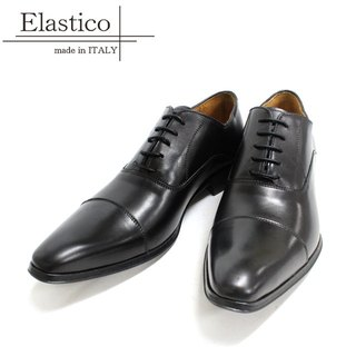 Elastico Italian classic horizontal oxford shoes #101 gentleman black - ARGIS Japanese handmade