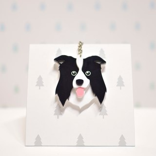 Border Collie - Keyring - Pet Accessories - Pet Hanger - Hairy Kids - Gifts - Custom - Acrylic - BU