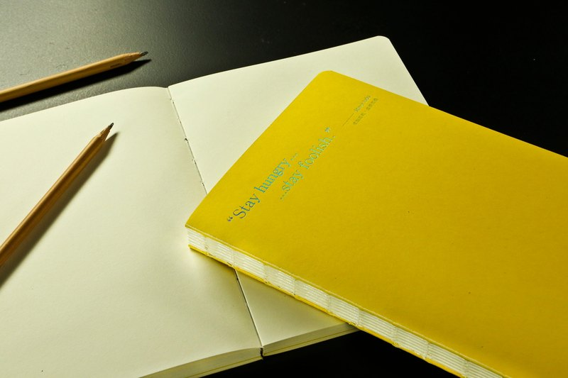 Gee Note Yo bare wire-bound notebook - bright yellow