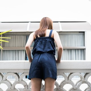 navy rise n shine short pants