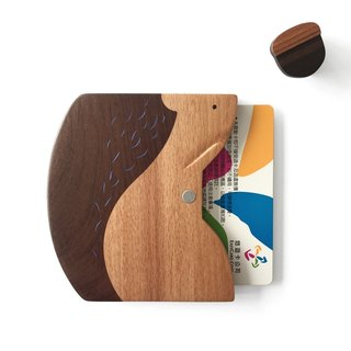 Tan Carpenter_Noah's Ark_Squirrel Ticket Card/Business Card Holder