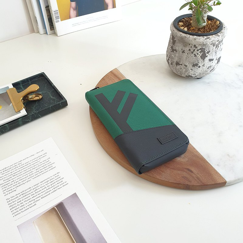 Fehu Long Wallet - OCEAN/GREEN