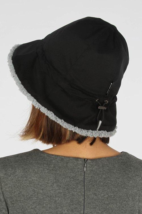 3512a076202 Waterproof storage fluff fisherman hat - black - Designer BREEZI ISLAND