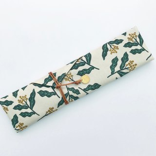 Plant printing cutlery storage bag free typing