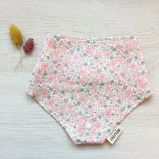 Triangle Bib (pink small floral)