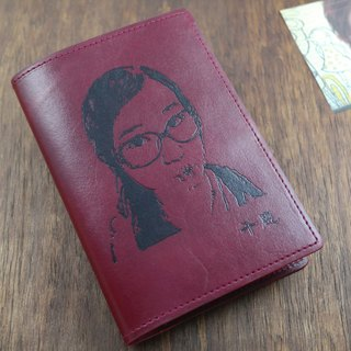 APEE leather hand ~ idol passport folder ~ wine red