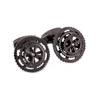 Gunmetal Bicycle Gear Cufflinks