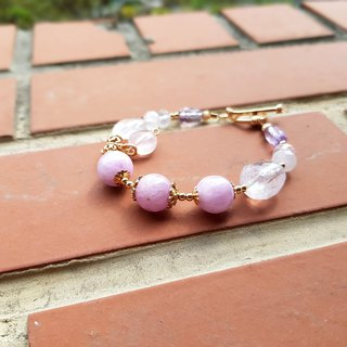 Girl Crystal World [Queen of Gems] - Purple Lithium Bracelet Natural Crystal Handmade - Remastered