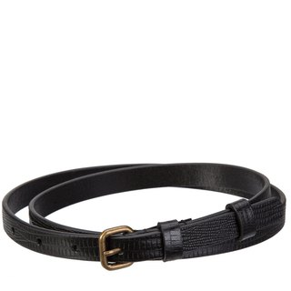 NEVER NEVER Belt Black _Black Lizard Emboss / Black Lizard Embossed