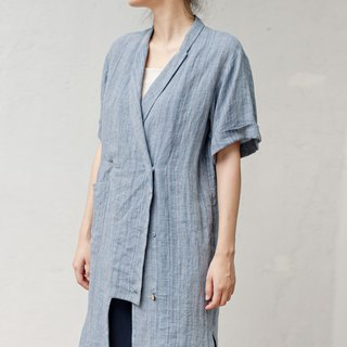 BUFU unisex linen long jacket SH180107