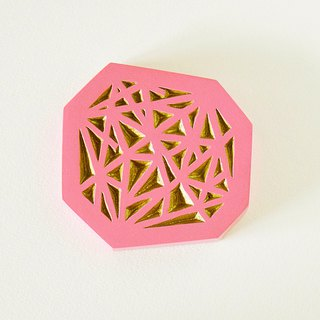 Geometric Hand Mirror Mini (intersect - pink)
