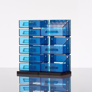 Magnetic Multifunction Desktop Organizer - Blue