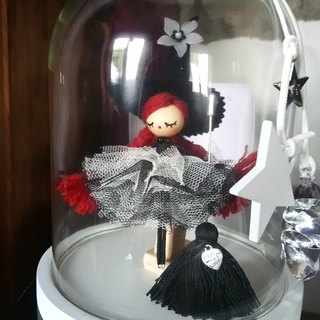 Witch in glass bell