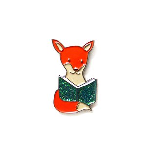 Literacy Fox Pin