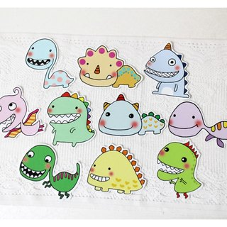 Waterproof Sticker Set (Large)_Little Dinosaur Series (10 sets)