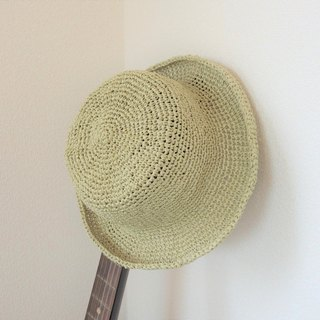 yuoworks / Summer hat / made of Japanese traditional paper Washi / light green