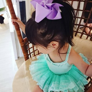 Bonbon baby classic handmade bow hairpin 15*10 cm # light violet
