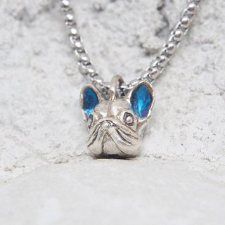 [Xia Bomi silverware doll] Bear Bear Alliance- Union law bucket necklace, non-exclusive blue metallic luster gilt sterling silver doll! Toys jewelry designer