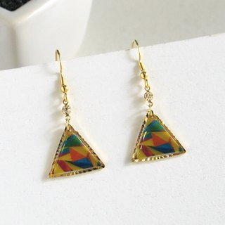 triangle stained glass chic 0202
