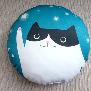 Cat round pillow nap pillow