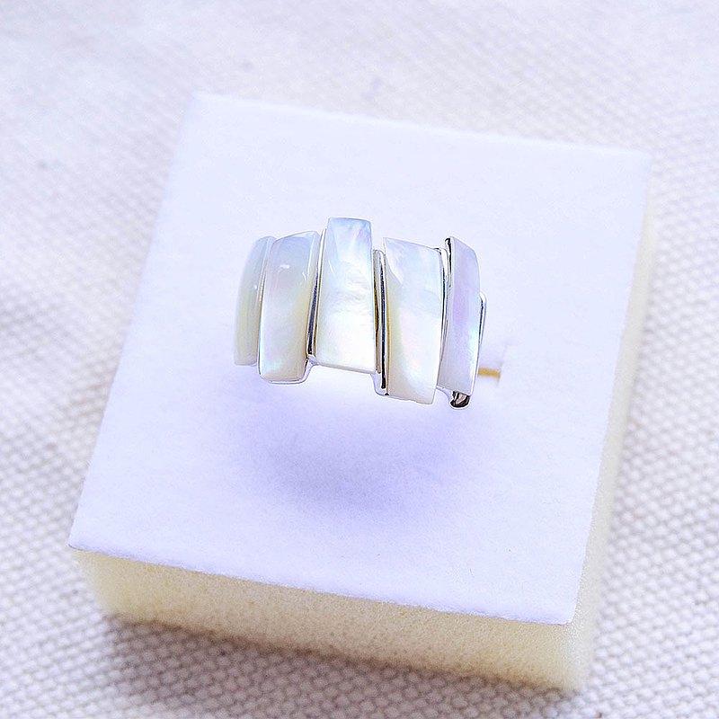 【母貝・925純銀】大海之聲 戒指