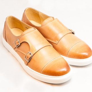 Hand-colored calfskin leather Capeto leisure Munch shoes shoes - Caramel - Free Shipping - E2B03-89