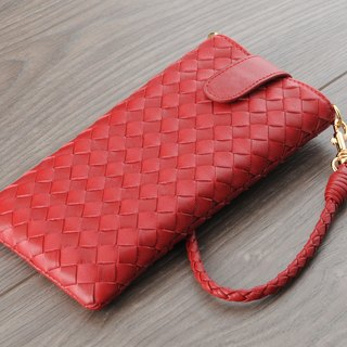 STORYLEATHER made (APPLE iPhone series) Style S5 straight bagged woven custom leather case