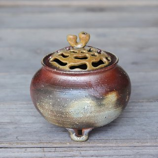 Bizen incense burner (with paulownia box) i-056