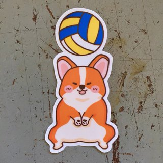 Coki volleyball small waterproof sticker SS119