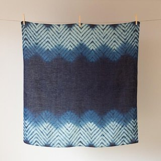 The indigo dyeing hemp wrapping cloth (shore Yamaji)
