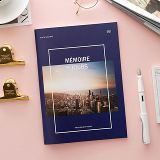 Funnymade Recall World Magazine B5 Horizontal Notebook - Navy Blue, FNM36045