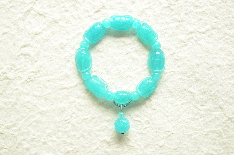 [Amazonite] natural Tianhe stone hand-carved rich traditional meaning bracelet hand row
