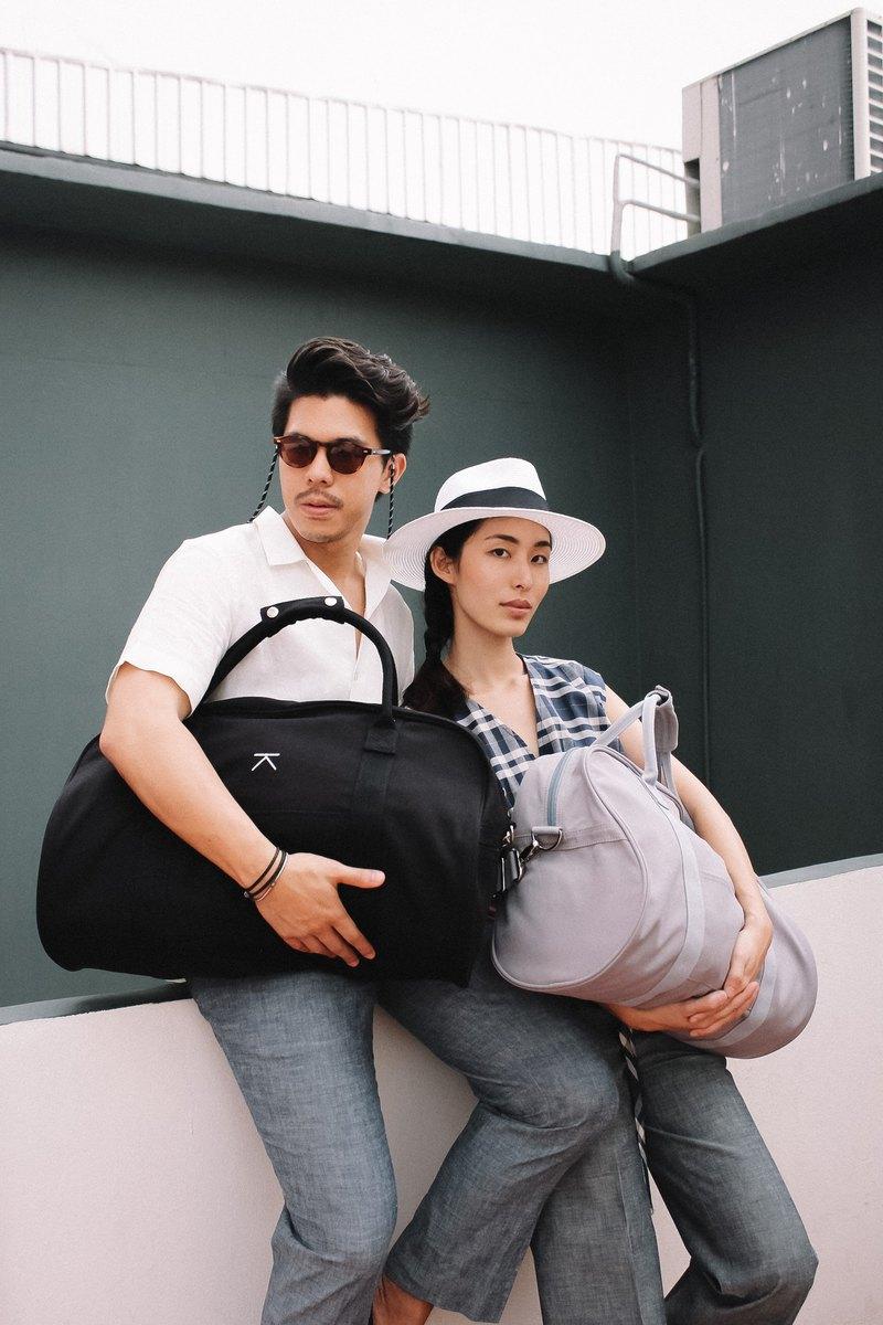 44fef2348d3c Canvas travel duffle bag - Black - Designer Kodangs