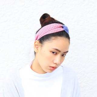 【The MAMA's Closet】Checked Series (Red) / Headband