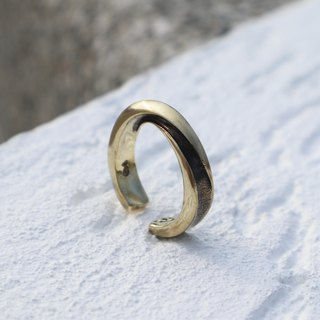 Brass large infinite wide ring C ring