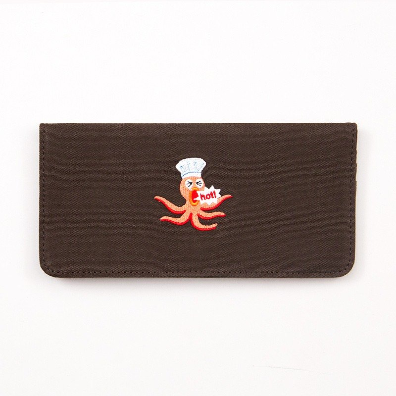 Bentoy x Shouting Animals - Embroidered Canvas Long Clip - Octopus