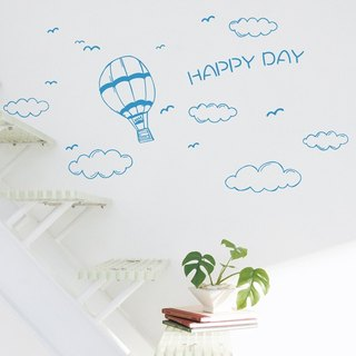 Smart Design Creative wall stickers Incognito ◆ Po hot air balloon and clouds (8 colors)