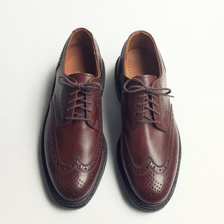 70s 美製翼紋德比皮鞋|American Gentalman Wingtip Shoes US 8D EUR 40 -Deadstock