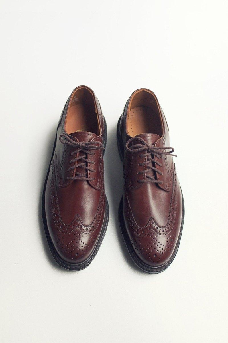 70s American wing profile derby shoes | American Gentalman Wingtip Shoes US  8D EUR 40 -Deadstock