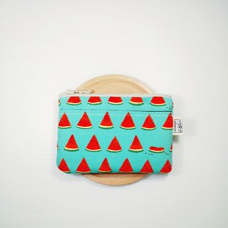 [Watermelon - Green] Coin Purse Clutch Bag with Zipper Bag Christmas Exchange Gift
