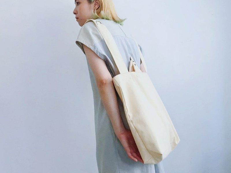 包 | 臉手刺繡重磅托特包 / 可後背
