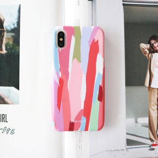 Pink oil painting phone case