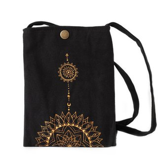 Henna wind hand-painted side backpack