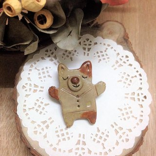 Forest friends hand made ceramic pin