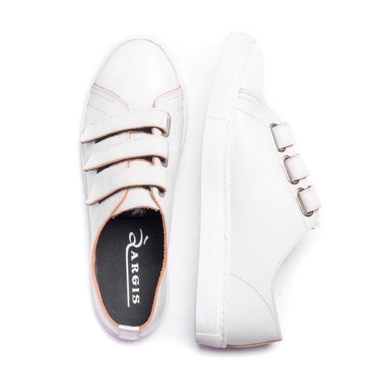 ARGIS Japan Full Leather Devil Felt Casual White Shoes  18131白-日本手工制 - Designer  ARGIS Japan Handmade Leather Shoes  80bfba46219