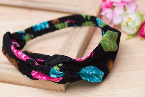 Hand elastic elastic cross hair band