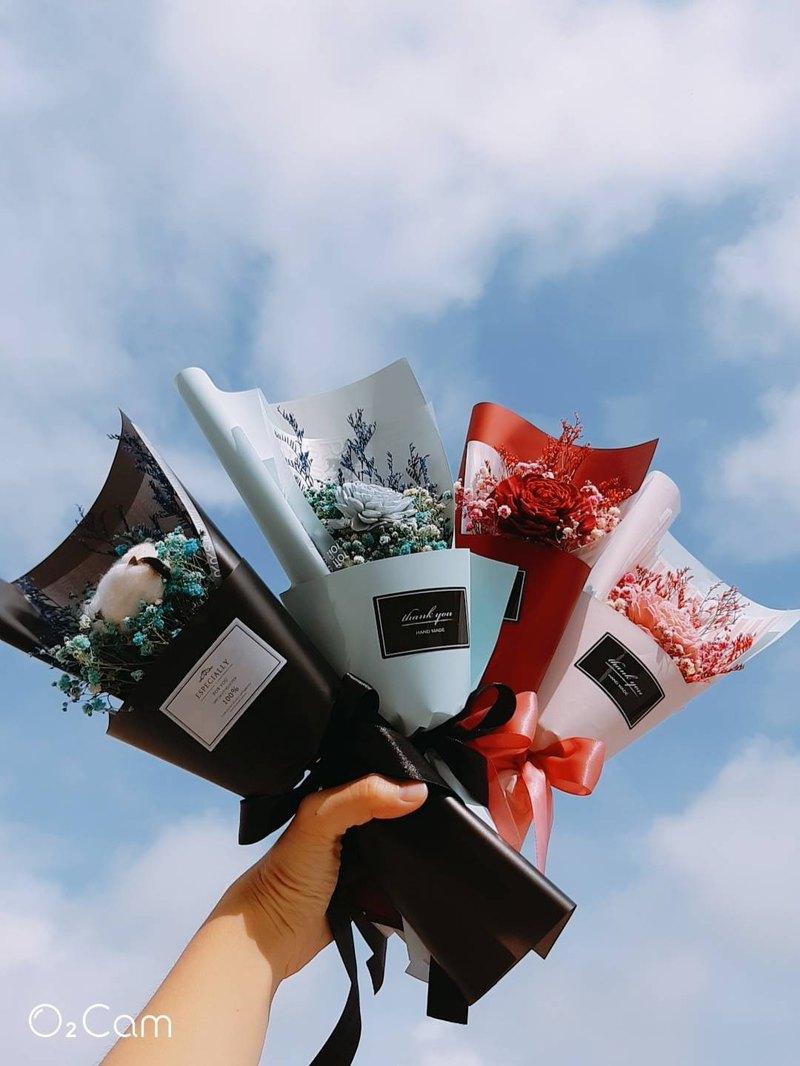 香氛太陽玫瑰花束  畢業禮物/姊妹禮/伴娘禮/乾燥花束/拍照道具