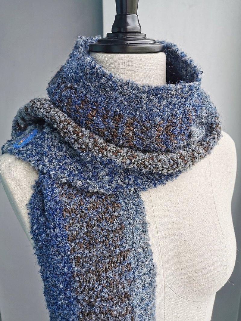 Handwoven by Beatrice | 手織圈圈羊毛羊駝小圍巾