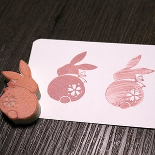 Apu handmade chapter cute cherry rabbit back shadow seal