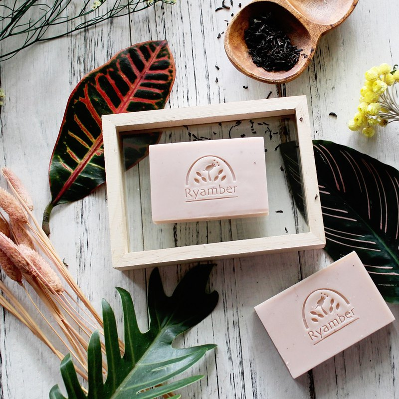 [Lei Anba handmade soap] Sun Moon Lake tea soap. Sweet scented osmanthus black tea │ natural handmade soap │ essential oil │ with hand │ Taiwan specialty
